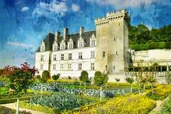 villandry slott royaltyfria foton