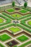 Villandry slottträdgård/Chateau De Villandry Arkivbilder