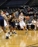 Villanova ladies basketball - Devon Kane dribbles. VILLANOVA, PA - DECEMBER 9: Villanova University women's basketball guard Devon Kane (#22) drives the baseline Royalty Free Stock Photos