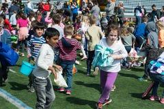 VILLANOVA, PA - APRIL 2: Radnor Township hosts Easter Egg Hunt at Villanova University Football Stadium on April 2, 2017 Royalty Free Stock Photography