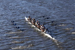 Villanova University races in the Head of Charles Regatta Men`s College Eights Stock Photo