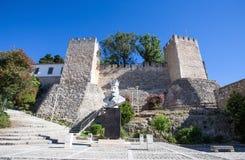 Villanovor rockerar, Portugal/för slotten/för fortressen/medieval/byggnad Fotografering för Bildbyråer
