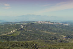 Villanueva del Arzobispo. In the background and olive groves. Andalusia Royalty Free Stock Images