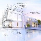 Villaontwerp royalty-vrije illustratie