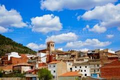 Villar del Humo in Cuenca Spanje dorpshorizon Royalty-vrije Stock Foto