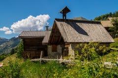 Villard ceillac στα qeyras στις Hautes Alpes στη Γαλλία στοκ φωτογραφίες με δικαίωμα ελεύθερης χρήσης