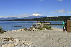 Villarica Chile stockbilder
