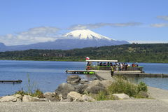 Villarica Cile fotografie stock libere da diritti