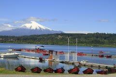 Villarica Cile fotografia stock libera da diritti