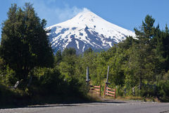 Villarica Volcano in Chile Stock Images