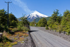 Villarica Volcano in Chile royalty free stock image