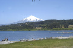 Villarica Volcano in Chile Royalty Free Stock Photography