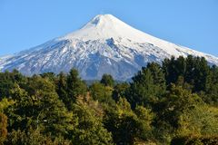 Villaricavulkaan in Pucon, Chili stock fotografie