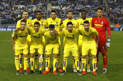 Villarreal ΘΦ lineup που θέτει Στοκ Εικόνα