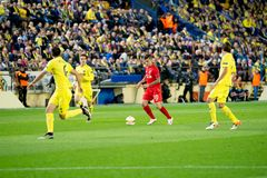 Philippe Coutinho plays at the Europa League semifinal match between Villarreal CF and Liverpool FC Royalty Free Stock Photography