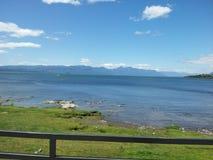 Villarrica jezioro, IX region, Chile zdjęcie royalty free
