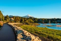 Villarrica Vulkan lizenzfreie stockbilder