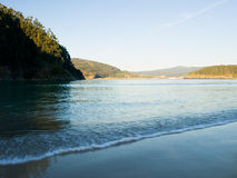 Villarrube beach in Galicia. Royalty Free Stock Images