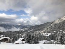 Villars в зимнем времени стоковое фото
