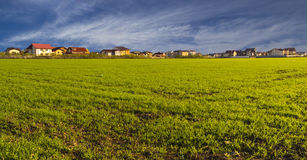 Villas. In a green landscape Royalty Free Stock Image