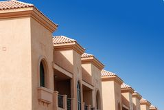 Villas. Arabic villas in Ajman city Royalty Free Stock Image
