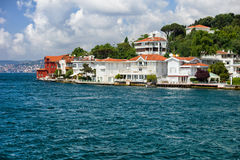 Villas Along The Bosphorus Strait Royalty Free Stock Image