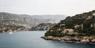 Villas on Coast of France Royalty Free Stock Photos