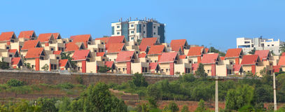 Villas dans l'Inde de Visakhapatnam photographie stock libre de droits