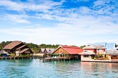 Villas de bord de la mer. Image libre de droits