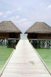 Villas de l'eau Images libres de droits