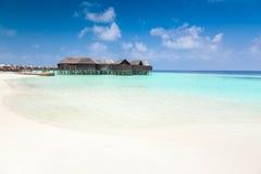 Villas de l'eau en Maldives photos stock