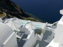 Villas de luxe de Santorini Photographie stock