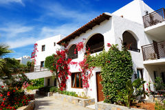 Villas decorated with flowers at luxury hotel Royalty Free Stock Photography