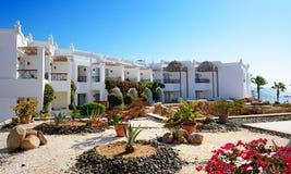 Villas decoration at the luxury hotel. Sharm el Sheikh, Egypt Stock Photo
