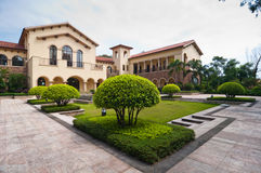 Villas et jardins Photo stock