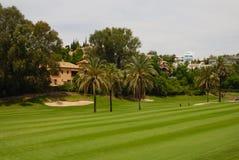 Villas in golf course Stock Photo