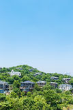 Villas group building scenery Royalty Free Stock Image
