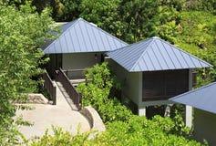 Villas on the hotel Raffles Praslin Seychelles Royalty Free Stock Images