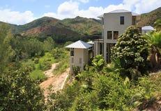Villas on the hotel Raffles Praslin Seychelles Royalty Free Stock Photography