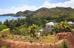 Villas on the hotel Raffles Praslin Seychelles Royalty Free Stock Image