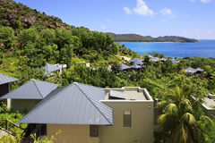 Villas on the hotel Raffles Praslin Seychelles Stock Images