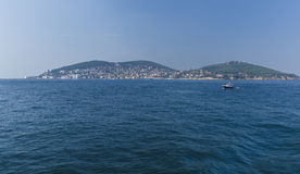 Villas and hotels on the Princes' Islands.Turkey Stock Image