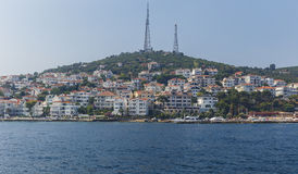 Villas and hotels on the Princes' Islands.Turkey Stock Photos