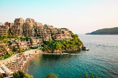 Villas and luxury apartments in Budva, Montenegro. Stock Photo
