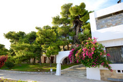 Villas at luxury hotel Stock Images