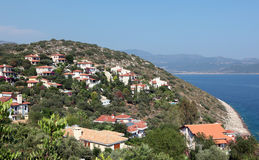 Villas on Mediterranean coast Stock Image