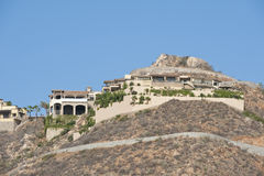 Villas on mountainside Royalty Free Stock Photo