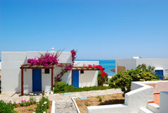 Villas near beach at luxury hotel Stock Photo