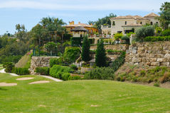 Villas next to golf course Royalty Free Stock Images