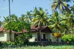 Villas of rich Indians on shores of Bay of Bengal Stock Photo